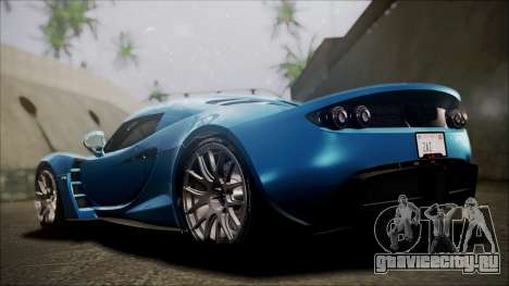 Hennessey Venom GT 2012 U.S.A American для GTA San Andreas вид сзади слева