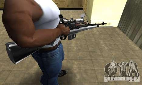 Silver Sniper Rifle для GTA San Andreas