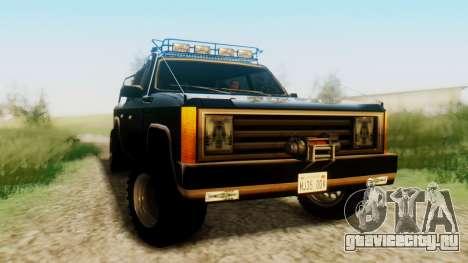 FBI Rancher Offroad для GTA San Andreas вид справа