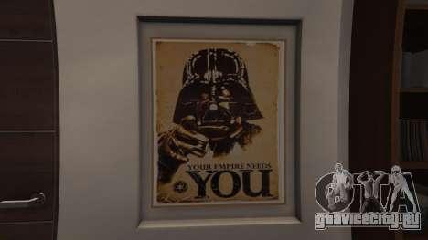 Star Wars Posters for Franklins House 0.5 для GTA 5 второй скриншот