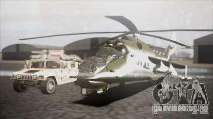 Mil Mi-24W Polish Land Forces для GTA San Andreas