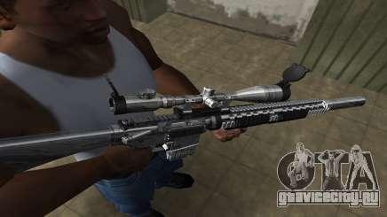 Full Silver Sniper Rifle для GTA San Andreas