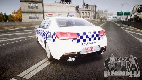 Holden VF Commodore SS NSW Police [ELS] для GTA 4 вид сзади слева