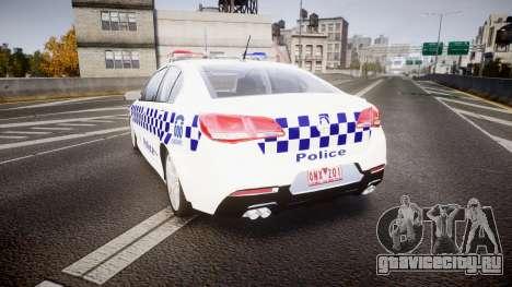 Holden VF Commodore SS NSW Police [ELS] для GTA 4 вид сзади слева