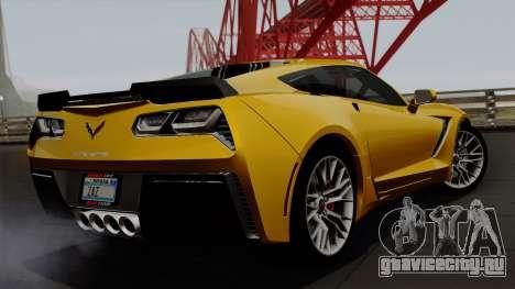 Chevrolet Corvette Z06 1.0.1 для GTA San Andreas вид слева
