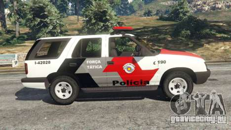 Chevrolet Blazer Sao Paulo State Police для GTA 5 вид слева