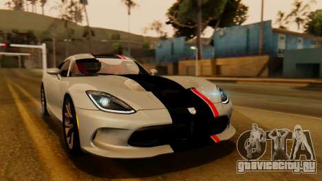 Dodge Viper SRT GTS 0013 IVF (HQ PJ) LQ Dirt про GTA San Andreas внешность сверху