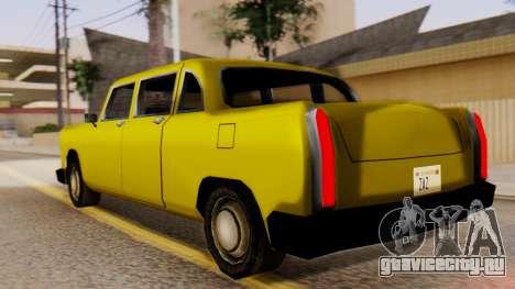 Cabbie New Edition для GTA San Andreas вид слева