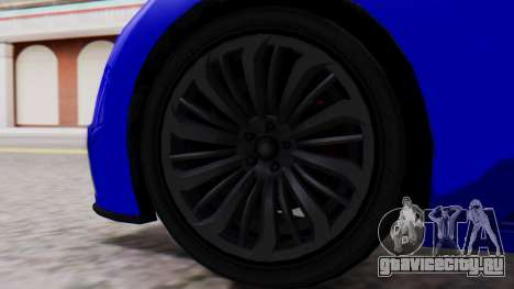 GTA 5 Truffade Adder Convertible для GTA San Andreas вид сзади слева