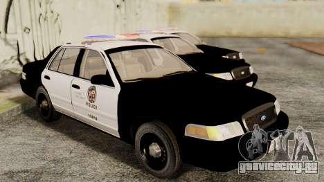 Ford Crown Victoria 2009 LAPD для GTA San Andreas вид справа