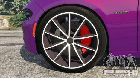Dodge Charger RT 2015 v1.1 для GTA 5 вид сзади справа
