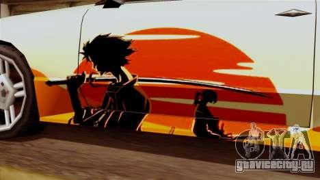 Винил для Elegy - Samurai Drifting для GTA San Andreas вид справа