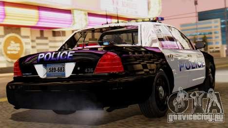 Police LS 2013 для GTA San Andreas вид слева
