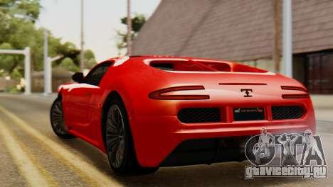 GTA 5 Adder Secondary Color Tire Dirt для GTA San Andreas вид слева
