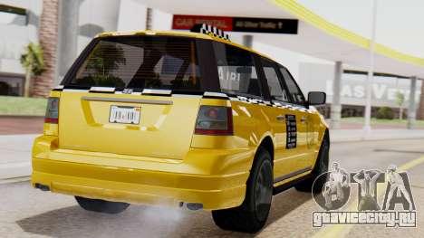 Landstalker Taxi SR 4 Style Flatshadow для GTA San Andreas вид слева