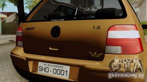 Volkswagen Golf 2004 Edit для GTA San Andreas вид сзади
