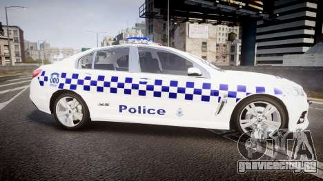 Holden VF Commodore SS NSW Police [ELS] для GTA 4 вид слева