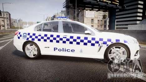 Holden VF Commodore SS NSW Police [ELS] для GTA 4 вид слева