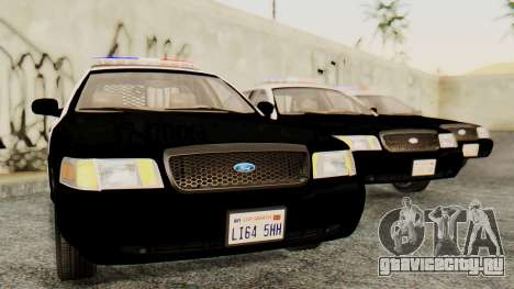 Ford Crown Victoria 2009 LAPD для GTA San Andreas вид сзади слева