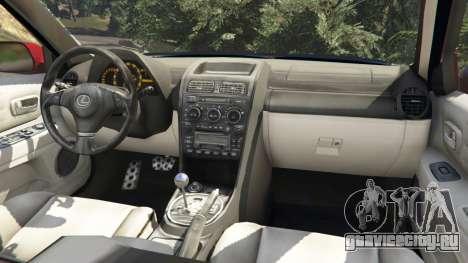 Lexus IS300 для GTA 5 вид справа