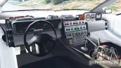DeLorean DMC-12 Back To The Future v0.2 для GTA 5 вид сзади справа