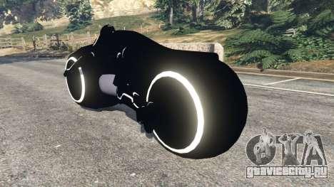 Tron Bike white для GTA 5 вид сзади слева