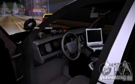 Ford Crown Victoria Police для GTA San Andreas вид сзади слева