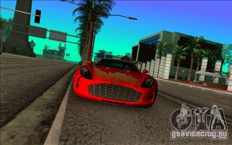 Астон Мартин Один-77 для GTA Vice City вид сзади слева