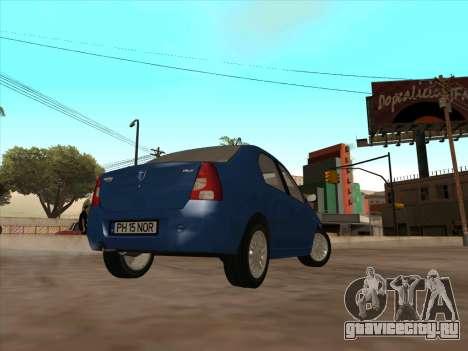 Dacia Logan Prestige для GTA San Andreas вид справа