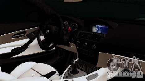 BMW M6 E63 Police Edition для GTA San Andreas вид справа