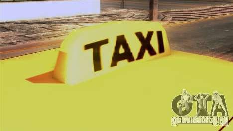 Taxi Kuruma 0.9 для GTA San Andreas вид сзади