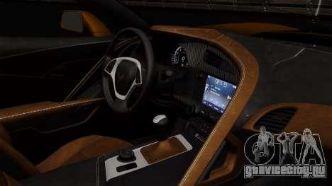 Chevrolet Corvette Z06 1.0.1 для GTA San Andreas вид сзади