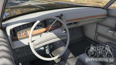 Dodge Polara 1971 Police v3.0 для GTA 5 вид сзади справа