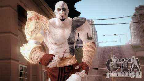 God Of War 3 Kratos Blue для GTA San Andreas
