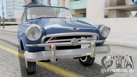 ГАЗ 21 Волга v1 для GTA San Andreas вид сзади