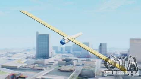 Фантастический самолет для GTA San Andreas вид сзади слева
