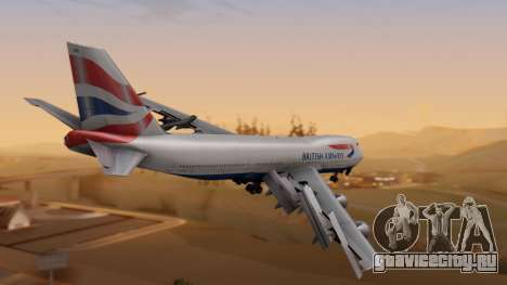 Boeing 747-200 British Airways для GTA San Andreas вид слева