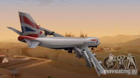 Boeing 747-200 British Airways для GTA San Andreas вид слева
