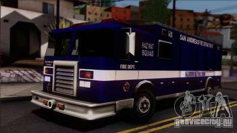 FDSA Hazardous Materials Squad Truck для GTA San Andreas