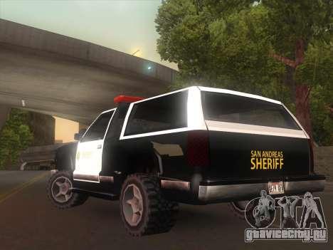 Yosemite Police 2015 для GTA San Andreas вид сзади слева