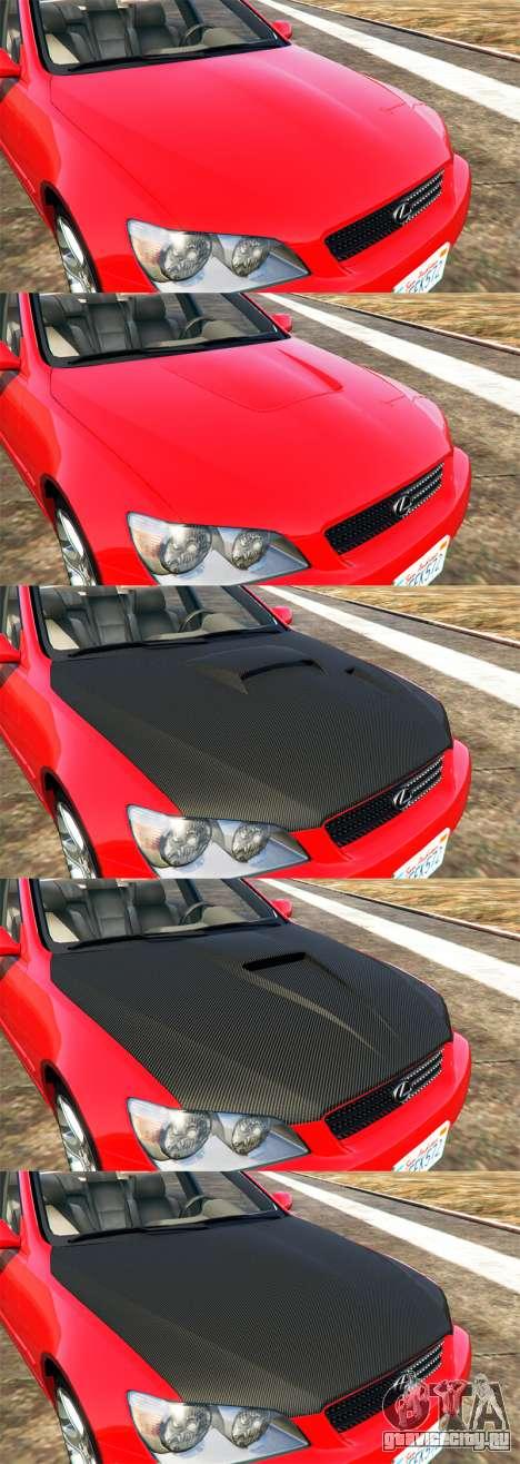 Lexus IS300 для GTA 5 вид сверху