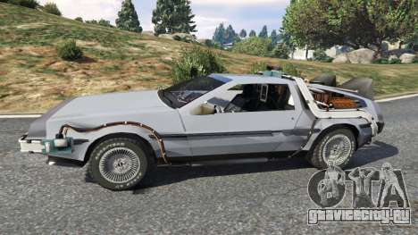 DeLorean DMC-12 Back To The Future v0.2 для GTA 5 вид слева