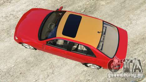 Lexus IS300 для GTA 5 вид сзади