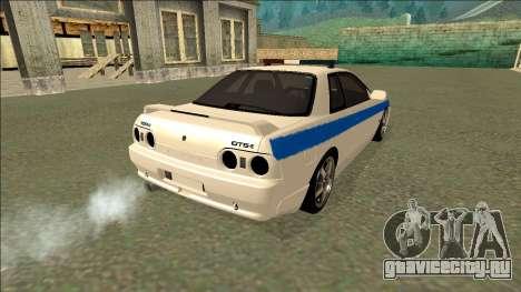 Nissan Skyline R32 Russian Police для GTA San Andreas вид сбоку