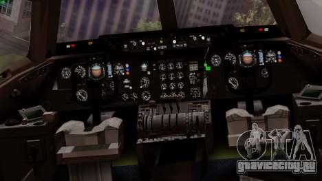 DC-10-30 Swissair для GTA San Andreas вид изнутри