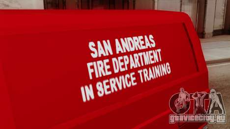 SAFD In Service Training Van для GTA San Andreas вид справа