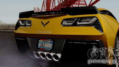 Chevrolet Corvette Z06 1.0.1 для GTA San Andreas вид изнутри
