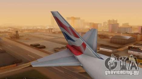Boeing 747-200 British Airways для GTA San Andreas вид сзади слева