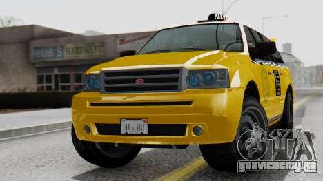Vapid Landstalker Taxi SR 4 Style Flatshadow для GTA San Andreas