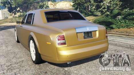 Rolls-Royce Phantom EWB v0.6 [Beta] для GTA 5 вид сзади слева